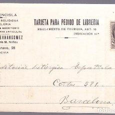 Timbres: HP4-6- TARJETA PEDIDO LIBRERÍA LA FUENCISLA SEGOVIA 1932. Lote 218929733