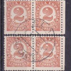 Sellos: LL24-CIFRA REPÚBLICA EDIFIL 678 USADOS ELDA (ALICANTE) 2 PAREJAS. Lote 219030948