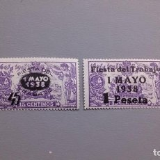 Sellos: ESPAÑA - 1938 - II REPUBLICA - EDIFIL 761/762 - SERIE COMPLETA - MH* - NUEVOS.. Lote 219202933