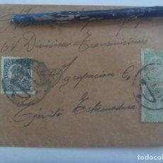 Sellos: GUERRA CIVIL: SOBRE DE VALENCIA A MILITAR DE 61ª TRANSMISIONES, EJERCITO EXTREMADURA, REPUBLICA 1939. Lote 219268108