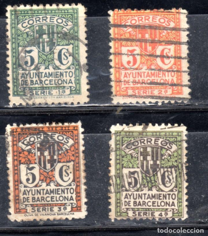 SELLOS DE BARCELONA 1932/35 (Sellos - España - II República de 1.931 a 1.939 - Usados)