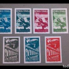 Sellos: ESPAÑA - 1939 - II REPUBLICA - EDIFIL NE 39S/45S -F - SIN DENTAR - SERIE COMPLETA - (*) - NUEVOS.. Lote 219314793