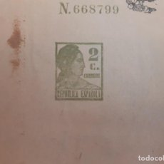 Timbres: FAJA CORREO IMPRESA BOLETIN DE IMFORMACION DE AGRICULTURA 1935 MADRID 32 PAGS. Lote 219352318