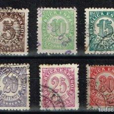 Sellos: ESPAÑA 1938 - EDIFIL 745-750 - CIFRAS. Lote 219448802