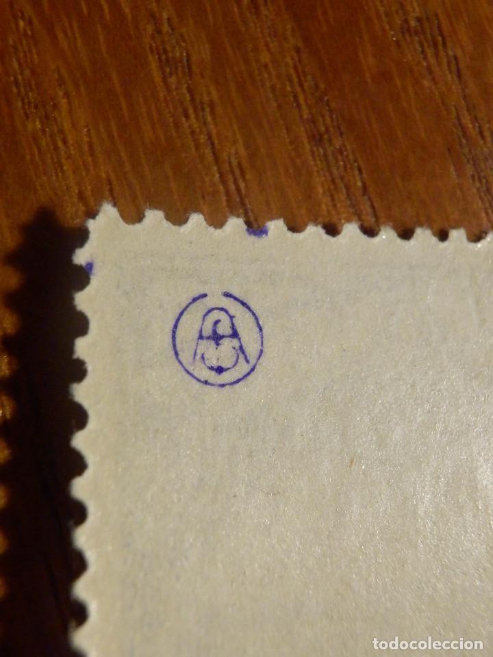 Sellos: EDIFIL Nº 759 Defensa Madrid - Aereo + 5 Pesetas - AÑO 1938, CON GOMA, SIN FIJASELLOS Catálogo 900 € - Foto 4 - 219525700