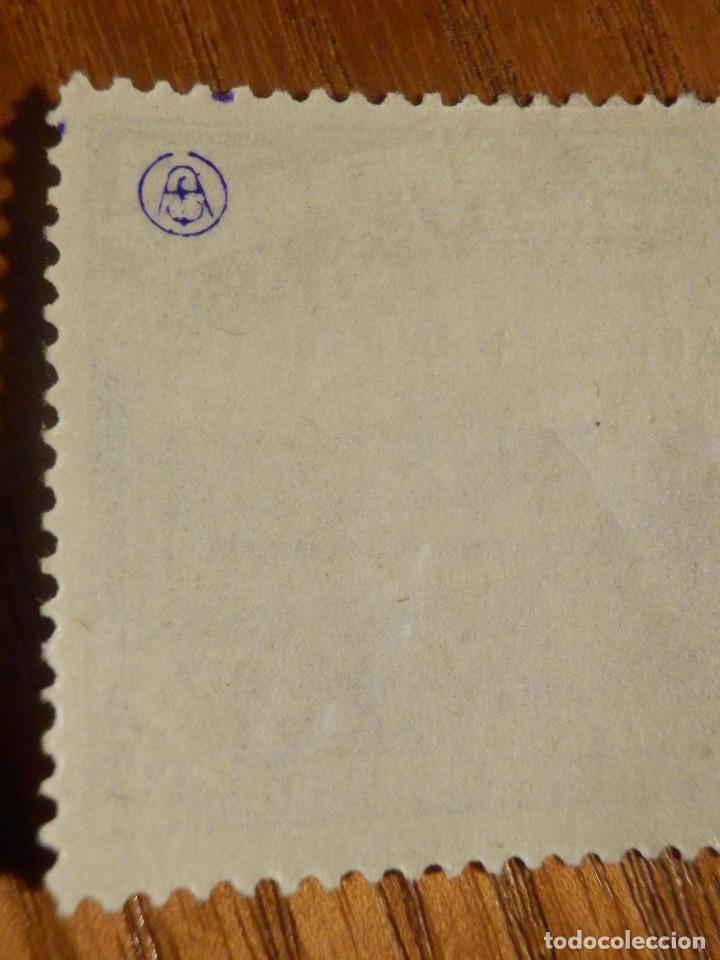 Sellos: EDIFIL Nº 759 Defensa Madrid - Aereo + 5 Pesetas - AÑO 1938, CON GOMA, SIN FIJASELLOS Catálogo 900 € - Foto 6 - 219525700