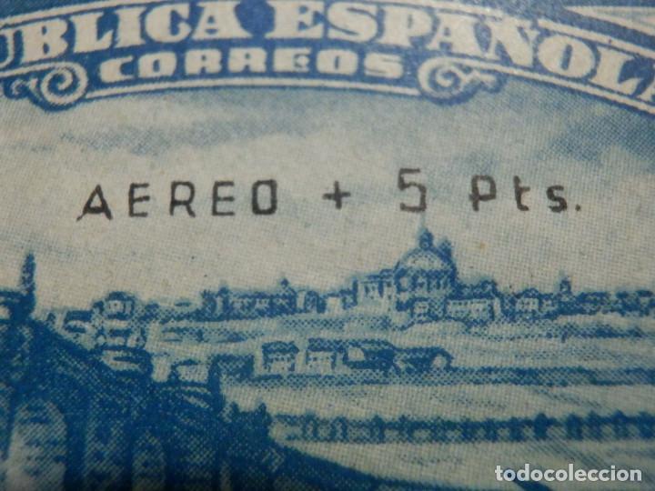 Sellos: EDIFIL Nº 759 Defensa Madrid - Aereo + 5 Pesetas - AÑO 1938, CON GOMA, SIN FIJASELLOS Catálogo 900 € - Foto 7 - 219525700