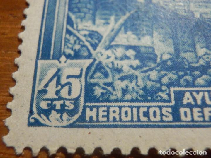 Sellos: EDIFIL Nº 759 Defensa Madrid - Aereo + 5 Pesetas - AÑO 1938, CON GOMA, SIN FIJASELLOS Catálogo 900 € - Foto 8 - 219525700