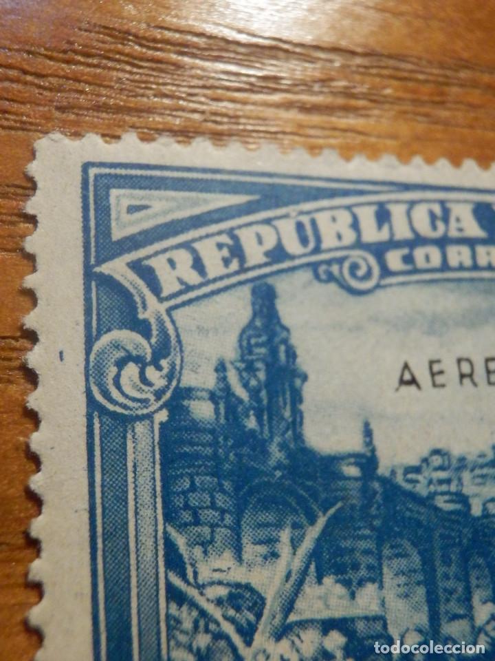 Sellos: EDIFIL Nº 759 Defensa Madrid - Aereo + 5 Pesetas - AÑO 1938, CON GOMA, SIN FIJASELLOS Catálogo 900 € - Foto 11 - 219525700