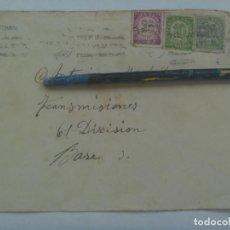 Sellos: GUERRA CIVIL: SOBRE DE VALENCIA A MILITAR DE LA 61 DIVISION TRANSMISIONES, REPUBLICA 1939. Lote 219909390