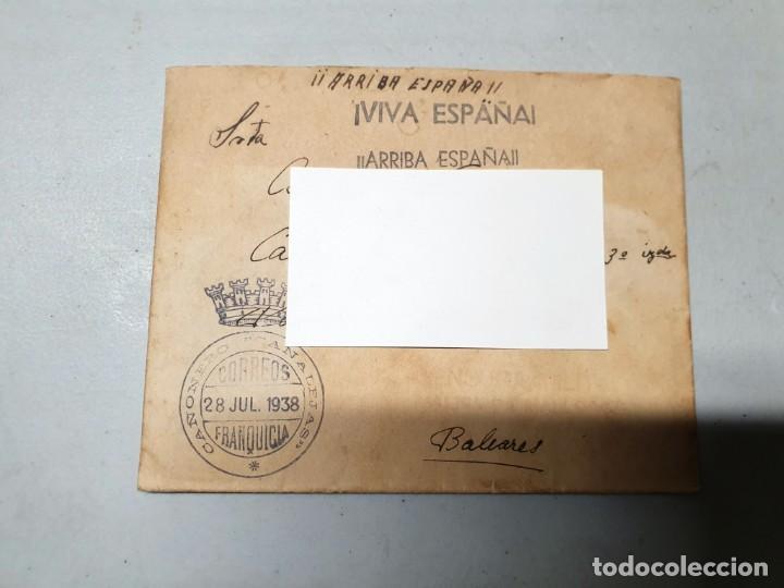 SOBRE FRANQUICIA CAÑONERO CANALEJAS. 28/07/1938 (Sellos - España - II República de 1.931 a 1.939 - Cartas)