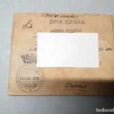 Timbres: SOBRE FRANQUICIA CAÑONERO CANALEJAS. 28/07/1938. Lote 220786548