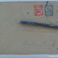 Sellos: GUERRA CIVIL: SOBRE DE VALENCIA A MILITAR DE 61ª TRANSMISIONES, BASE TURIA Nº 1 . REPUBLICA 1939. Lote 220993576