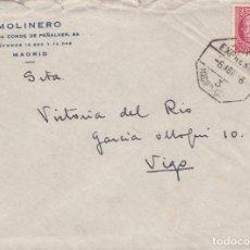 Sellos: CARTA DE MADRID A VIGO, FRANQUEO REPUBLICA MATASELLADO CON AMBULANTE EXPRESO MADRID CORUÑA. Lote 221224310