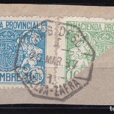Sellos: CL12-32- FISCALES POSTALES HACIENDA BISECTADO MATASELLOS AMBULANTE 1 HUELVA- ZAFRA. Lote 221266852