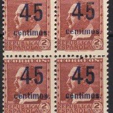 Sellos: BLOQUE DE SELLOS AÑO 1936 NE28A NUEVOS 240 EUROS VALOR CAT. Lote 221316648