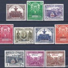 Sellos: EDIFIL 620-629 CONGRESO DE LA UNIÓN POSTAL 1931 (HAB. OFICIAL). VALOR CATÁLOGO: 110 €. LUJO. MNH **. Lote 221424373