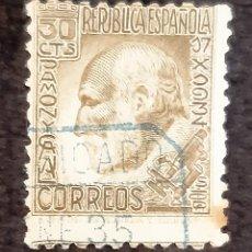 Sellos: SELLO DE LA REPUBLICA ESPAÑOLA. IMAGEN DE RAMON Y CAJAL. AÑOS 30.. Lote 221464091