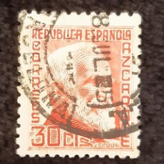 Sellos: SELLO DE LA REPUBLICA ESPAÑOLA. IMAGEN DE AZCARATE . AÑOS 30.. Lote 221465212