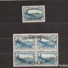 Sellos: SELLOS DE ESPAÑA AÑO 1938 DEFENSA DE MADRID SELLOS NUEVOS** BLOQUE 4 + 1. Lote 221591500