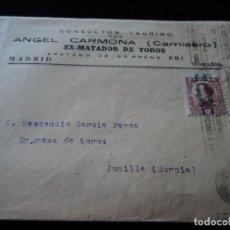 Francobolli: SOBRE Y BOLETIN DE SUSCRIPCION ANGEL CARMONA CAMISERO SELLO DE ALFONSO CON SOBRECARGA REPUBLICA 1931. Lote 221998543