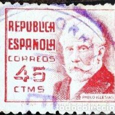 Sellos: PERSONAJES REPUBLICA - 1937. Lote 222019438