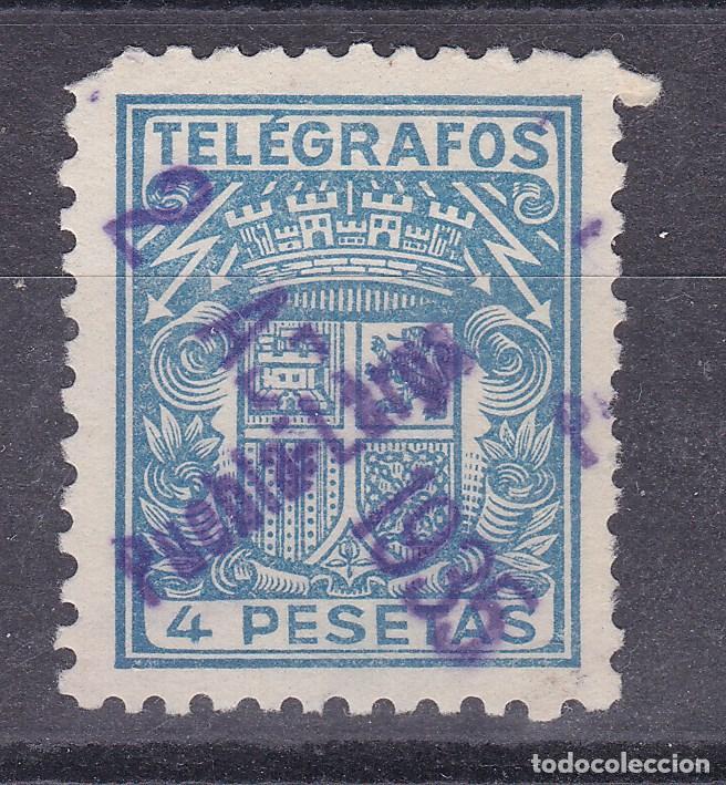 LL15- TELEGRAFOS USADO PUEBLA LARGA (VALENCIA) (Sellos - España - II República de 1.931 a 1.939 - Usados)