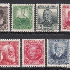 Sellos: ESPAÑA, 1933 - 1935 EDIFIL Nº 681 / 688 /*/, PERSONAJES. Lote 222152443