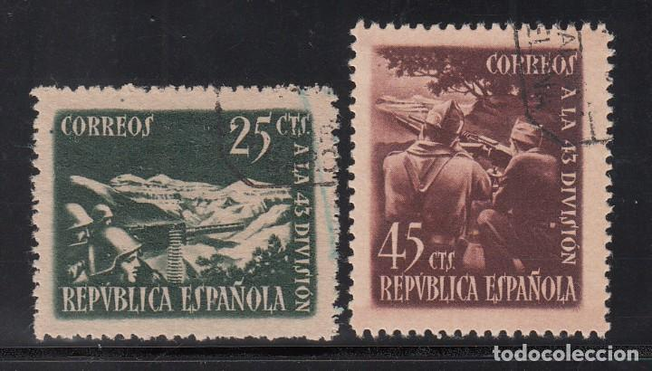 ESPAÑA, 1938 EDIFIL Nº 787 / 788 , HOMENAJE A LA 43 DIVISIÓN, (Sellos - España - II República de 1.931 a 1.939 - Usados)