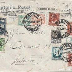 Sellos: II REPÚBLICA ESPAÑOLA. AÑO 1933. CARTA CIRCULACIÓN MADRID-MADRID.. Lote 222156022