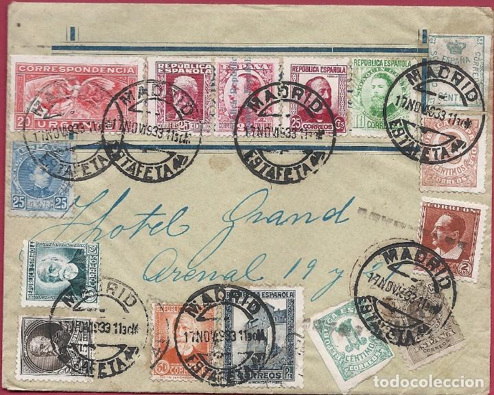II REPÚBLICA ESPAÑOLA.CARTA CIRCULACIÓN 1933-1935. MADRID-MADRID. (Sellos - España - II República de 1.931 a 1.939 - Cartas)