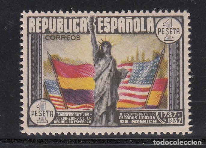 ESPAÑA, 1938 EDIFIL Nº 763 /*/, ANIVERSARIO DE LA CONSTITUCIÓN DE LOS EE.UU (Sellos - España - II República de 1.931 a 1.939 - Usados)