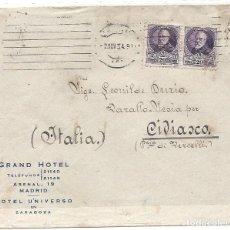 Sellos: II REPÚBLICA ESPAÑOLA. AÑO 1934. CARTA CIRCULADA MADRID - ITALIA.. Lote 222156821