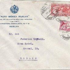 Sellos: II REPÚBLICA ESPAÑOLA. AÑO 1935. CARTA CIRCULADA; HUELVA-SEVILLA-MADRID.. Lote 222157130