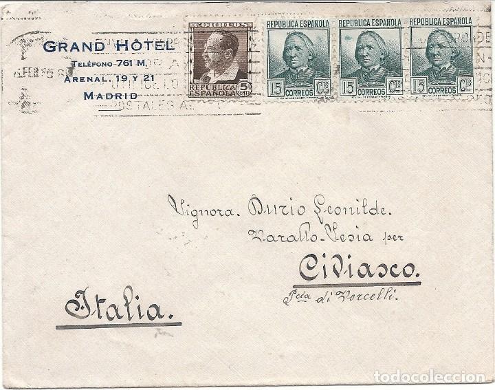 ESPAÑA - II REPÚBLICA. AÑO 1935 CARTA CIRCULADA. (Sellos - España - II República de 1.931 a 1.939 - Cartas)