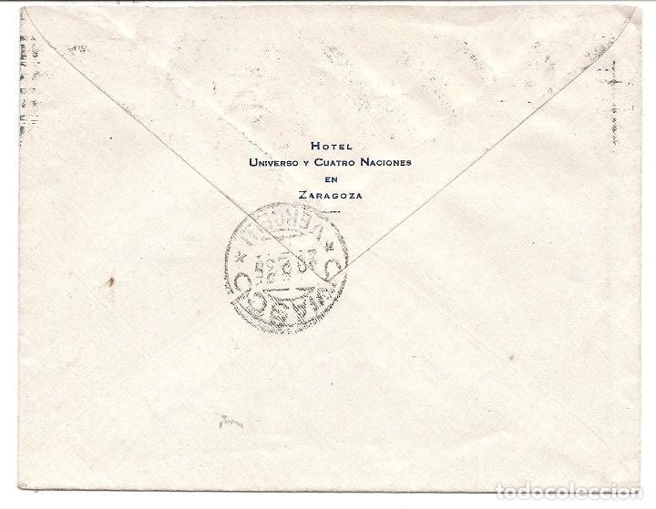 Sellos: ESPAÑA - II REPÚBLICA. AÑO 1935 Carta circulada. - Foto 2 - 222157631