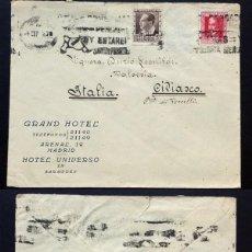 Sellos: II REPÚBLICA ESPAÑOLA. AÑO 1935. CARTA CIRCULADA ,MADRID-ITALIA.. Lote 222157790