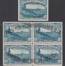 Sellos: ESPAÑA, 1938 EDIFIL Nº 789 / 790 /*/, II ANIVERSARIO DE LA DEFENSA DE MADRID. Lote 222157907