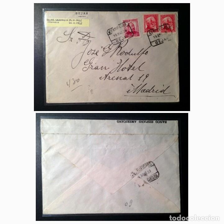 II REPÚBLICA ESPAÑOLA. CARTA CIRCULACIÓN, AÑO 1935. (Sellos - España - II República de 1.931 a 1.939 - Cartas)