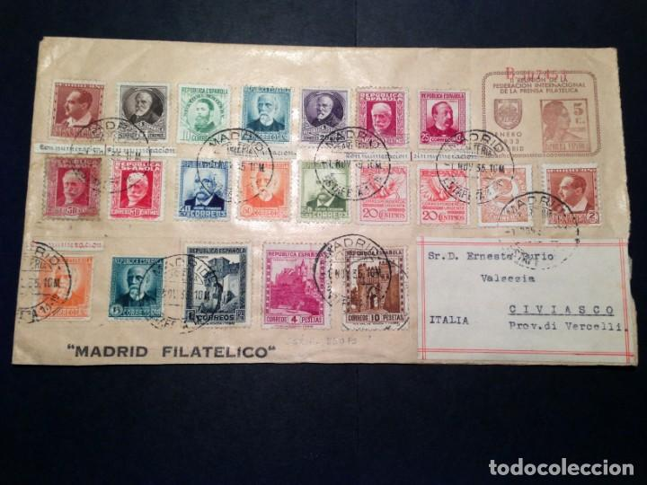 ESPAÑA - II REPÚBLICA.AÑO 1933./ENTERO POSTAL Nº 89.TIPO MATRONA. (Sellos - España - II República de 1.931 a 1.939 - Cartas)