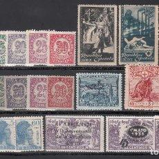 Sellos: ESPAÑA, 1938 LOTE DE SERIES COMPLETAS EN NUEVO **/*. Lote 222166005