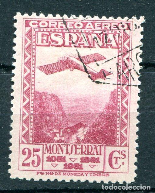 EDIFIL 652. 25 CTS DE MONTSERRAT, AÉREO. MATASELLADO. (Sellos - España - II República de 1.931 a 1.939 - Usados)