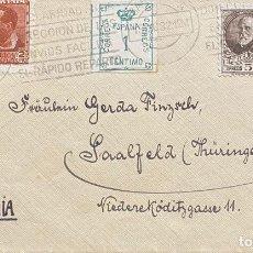 Sellos: ESPAÑA, SEGUNDA REPÚBLICA, CARTA CIRCULADA EN EL AÑO 1932. Lote 222306192