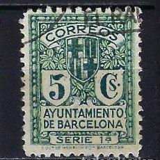 Sellos: 1932-1935 ESPAÑA AYUNTAMIENTO DE BARCELONA EDIFIL 9 USADO. Lote 222392820