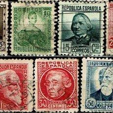 Sellos: ESPAÑA 1933-1935 / EDIFIL 681/688 USADOS. Lote 222547930