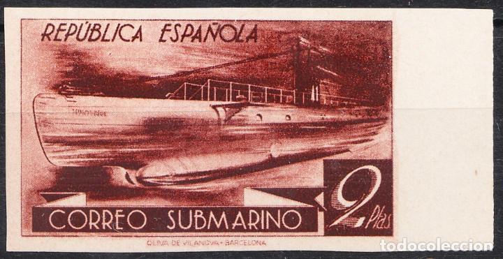 1938 REPÚBLICA ESPAÑOLA CORREO SUBMARINO VARIEDAD COLOR (Sellos - España - II República de 1.931 a 1.939 - Nuevos)