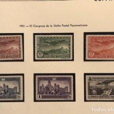 Sellos: EDIFIL 614 619 ** MNH SELLOS ESPAÑA 1931 LUJO EXCELENTE CENTRADO CONGRESO U.P. Lote 223517236