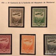 Sellos: EDIFIL 650 654 ** MNH SELLOS ESPAÑA 1931 LUJO EXCELENTE CENTRADO MONTSERRAT. Lote 223517445