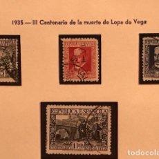 Sellos: EDIFIL 690 693 º SELLOS ESPAÑA 1935 EXCELENTE CENTRADO GOMA ORIGINAL LOPE DE VEGA. Lote 223582453