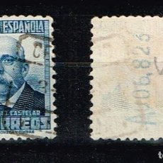 Sellos: ESPAÑA 1931-1932 - EDIFIL 660 - PERSONAJES - CON CIFRA DE CONTROLA LA DORSO. Lote 223691756